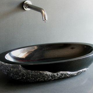 Black basin,stone basin