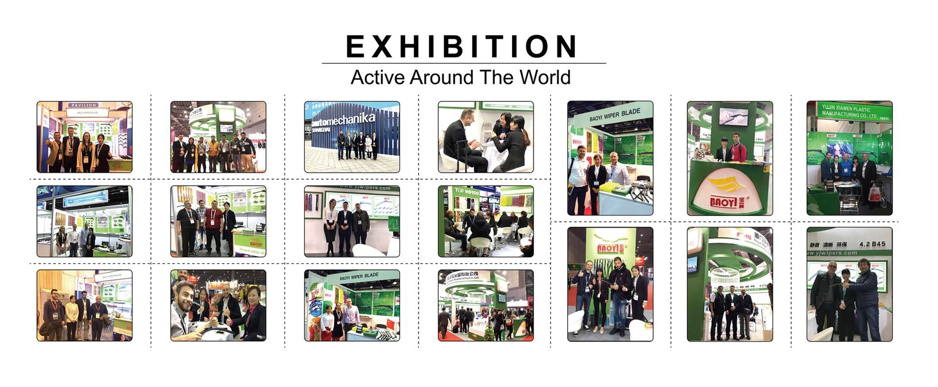 Wiper blades fairs, Las Vegas, Dubai, Istanbul, Moscow, Shanghai, Beijing